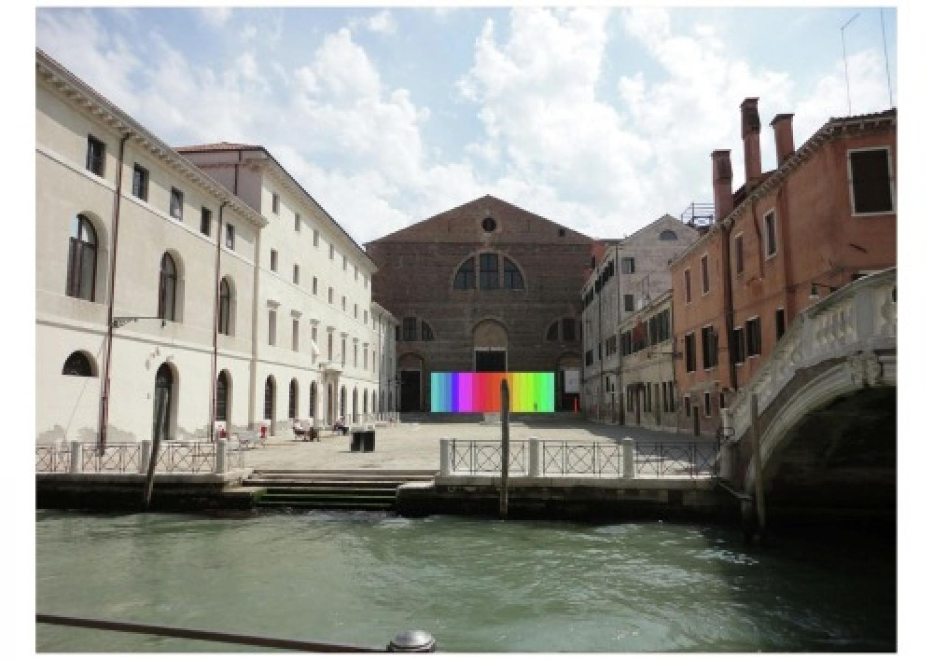Culture Under Construction - The Collectivity of Cultural Space Installation Photo Montage 2012, San Lorenzo Church, Venice, Italy   Arquine