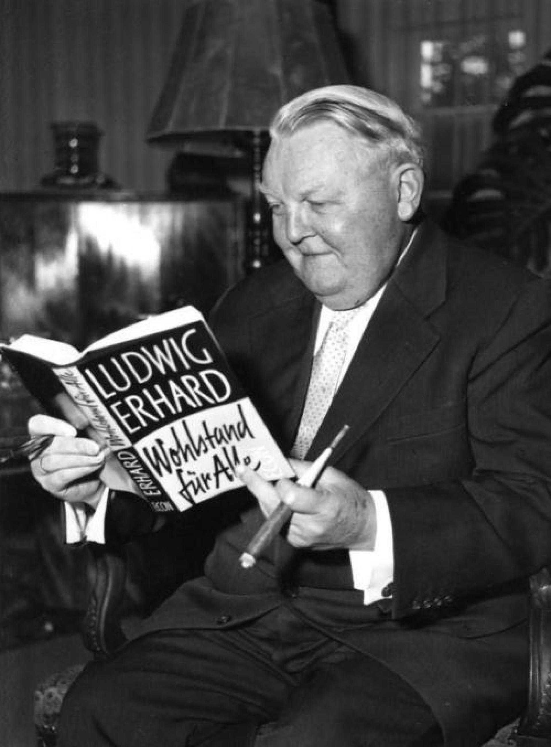 The second Chancellor of Germany, Ludwig Erhard.